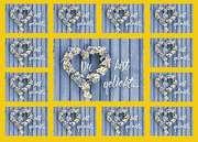 Aufkleber-Gruß-Karten: Du bist geliebt, 12 Stück