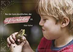 """Postkarten """"Nur der kann durchhalten"""", 12er-Serie"""