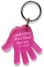 """Schlüsselanhänger """"Hand"""" - pink"""