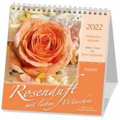 Rosenduft mit lieben Wünschen - Postkartenkalender