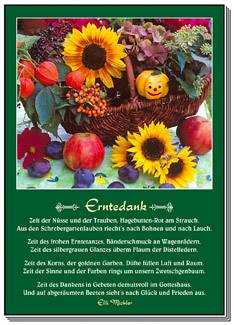 Postkarten: Erntedank, 12 Stück