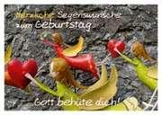 Herzliche Segenswünsche zum Geburtstag - Postkarte
