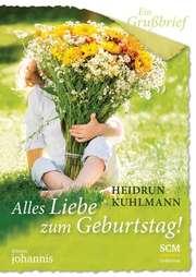 Ein Grußbrief - Alles Liebe zum Geburtstag! - 5 Stück