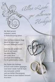 Faltkarte: Die Welt hat sich verändert - Silb. Hochzeit