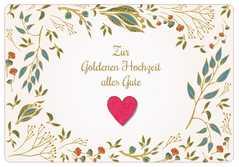 Zur goldenen Hochzeit alles Gute! - Faltkarte