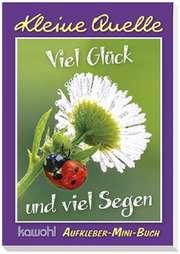 """Aufkleber-Mini-Buch """"Viel Glück und viel Segen"""""""