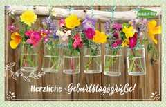Kräuter-Dip-Postkarte - Herzliche Geburtstagsgrüße!
